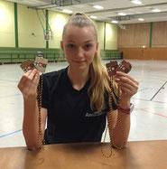 Vier RLP-Medaillen: Anna-Lena Schöler