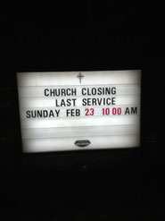 Church Closing Sign - Toronto
