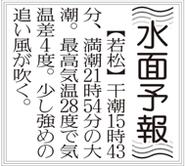 若松ボート予想欄(水面予報) 新聞の見方/スポーツ報知西部本社版