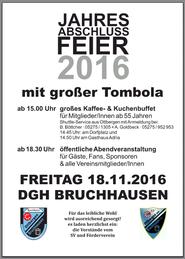 Flyer zur Jahresabschlussfeier 2016 vom SV Ottbergen-Bruchhausen