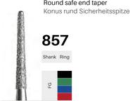 FG-Diamant 857, Konus rund Sicherheitsspitze