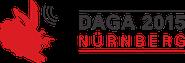 Logo der DAGA 2015 in Nürnberg