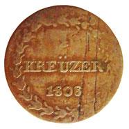 ein Kreuzer aus dem Jahre 1808, dem Geburtsjahr von Louis Napoleon