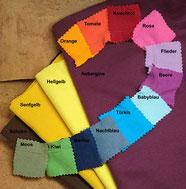 Farbauswahl Bio-Baumwollbündchen für Puschen