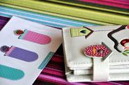 Bild: Lesezeichen und Gelbeutel als Geschenk in AnfängerGlück Stoffschultüte