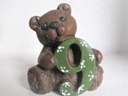 Buchstabenbären Baby aus Keramik