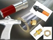Strahlzubehör, Strahlanlagenzubehör, Sandstrahlen, Ersatzteile, Strahlanlagen, Strahlpistole, Strahldüse, Schlauch, Schutzscheibe