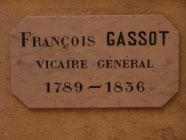 Tombe de F. Gassot, église basse cathédrale de Bourges
