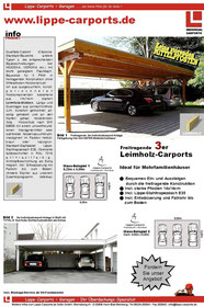 Dreiercarport LIPPE-Carport