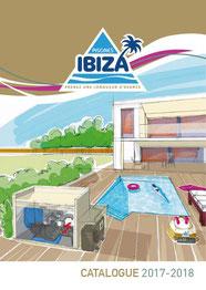 Couverture catalogue des bassins et piscines Ibiza distribués par Ain Bugey Piscines à Leyment