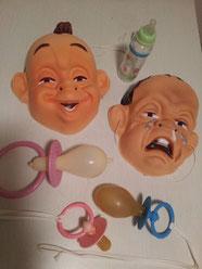 Babymasken Fr. 8.-, Riesenschnuller Fr. 3.-