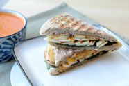 vegetarian apple-cheddar panini