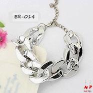 Bracelet grosse chaine argentée