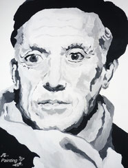 PABLO PICASSO (in Acrylfarbe) by L.A. Kovac´