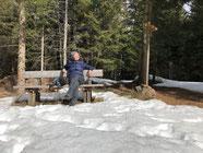 Sonne und Schnee genießen