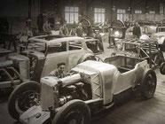 Aston Martin Vorkrieg Produktion Handarbeit