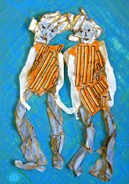 Mme et Mme 2: Papier, Acryl im Bildkasten, 35 x 25 cm, 2015