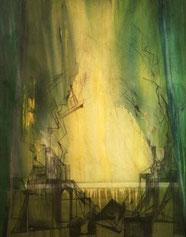 LICHTÖFFNUNG, Acryl auf Leinwand, 70 x 100 cm, 2002