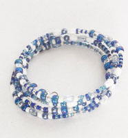 Schmuck Armband blau weiß