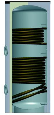 Wassererwärmer emailliert mit Wärmetauscher von Solar hoch 2