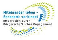 Logo Miteinander leben - Ehrenamt verbindet - Freiwilligen-Zentrum Augsburg