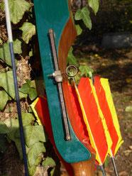 Visier an einem Sportbogen der Esslinger Bogenschützen