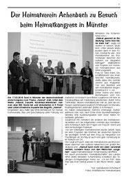 Heimatverein Achenbach  beim Heimatkongress Münster