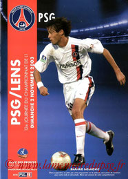 Programme  PSG-Lens  2003-04