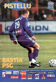 Programme  Bastia-PSG  2003-04