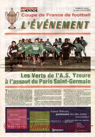 Programme  Yzeure-PSG  2001-02