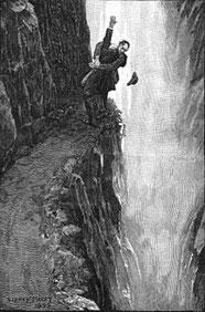 Chute de Holmes et de Moriarty dans les chutes