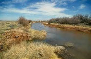 Rio Pecos in den USA / New Mexico