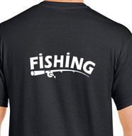 t-shirt impression fishing
