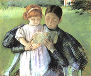 Mary Cassatt, Nurse Reading to a Little Girl, 1895, Pastell auf Papier, The Metropolitan Museum of Art, New York