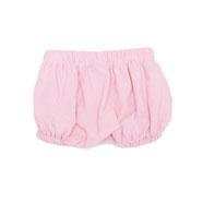 Bequeme Bloomershorts aus einem leichtem, rosafarbenem Baumwollstoff