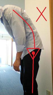 奈良県御所市の前屈で腰が痛い男性