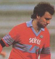 Sondertrikot. Sponsor Seleco. Getragen im Spiel gegen Italiens U21.
