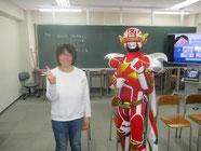 生徒と2ショットの記念写真。