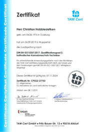 Zertifikat TAW C. Hobbiesiefken