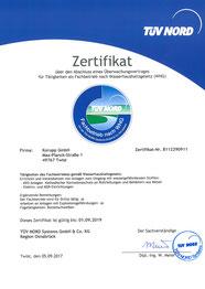 Zertifikat WHG Deutsch