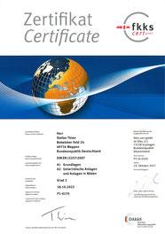 Certificate fkks S. Thien