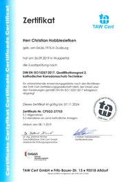 Certifikate TAW C. Hobbiesiefken