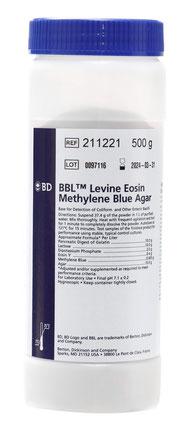BD BBL™ Agar Levine con Eosina y Azul de Metileno, 500 g