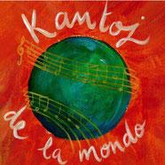 Logo Kantoj de la Mondo, Choeur mixte, Chants du monde, polyphonie,  Compagnie Parolata Sung, Vienne 86, Nouvelle-Aquitaine