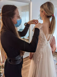 Brautkleid Änderungen, Änderungsservice Brautmode