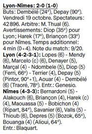 10EME JOURNÉE DE LIGUE 1 CONFORAMA : OLYMPIQUE LYONNAIS / NÎMES OLYMPIQUE  - Page 2 Image