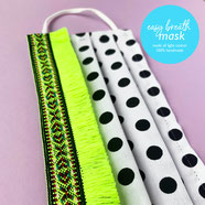 colorful easy breath cotton mask neon yellow