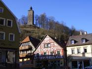 Bad Berneck Blick zum Schlossturm