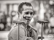 Raul Clown Bresilien pesctacle feria nimes gard davcsl acrobate humour