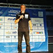 Moderator am 24. und 25. Juni 2017 bei der Triathlon-Sprint-Europameisterschaft in Düsseldorf.